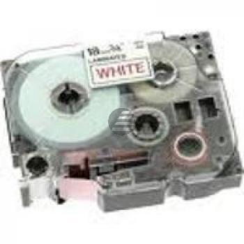 Brother Schriftbandkassette Aufbügelschrift blau/weiß (TZE-FA3)