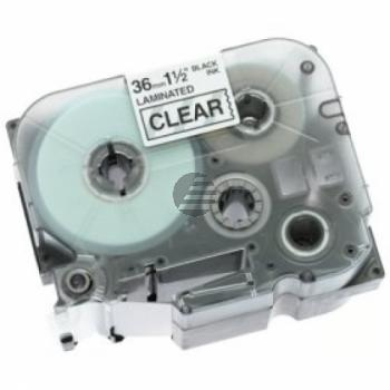 Brother Schriftbandkassette schwarz/transparent (TZE-161)