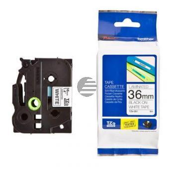 Brother Schriftbandkassette schwarz/weiß (TZE-261)