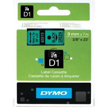Dymo Schriftbandkassette schwarz/grün (40919)