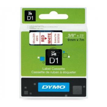 Dymo Schriftbandkassette rot/weiß (40915)