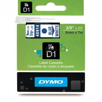 Dymo Schriftbandkassette blau/weiß (40914)