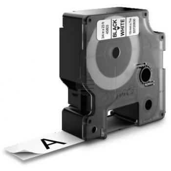 Dymo Schriftbandkassette schwarz/weiß (45803)