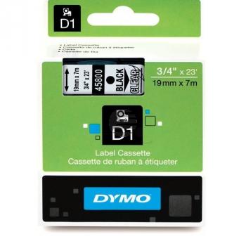 Dymo Schriftbandkassette schwarz/transparent (S0720820)