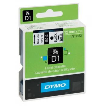 Dymo Schriftbandkassette schwarz/weiß (43113)