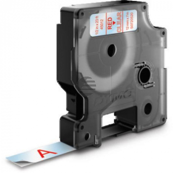 Dymo Schriftbandkassette rot/transparent (45012)