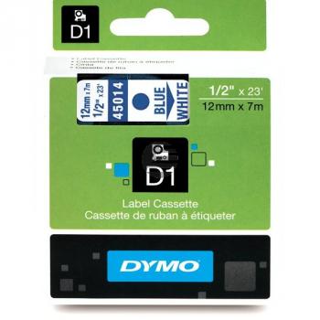 Dymo Schriftbandkassette blau/weiß (45014)