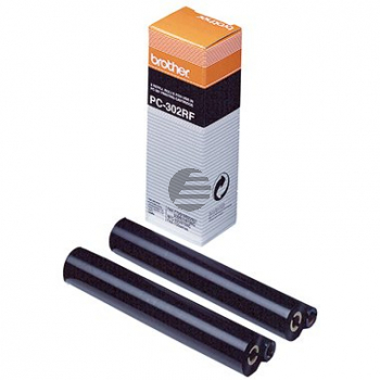 Brother Thermo-Transfer-Rolle 2 x schwarz (PC-302RF)