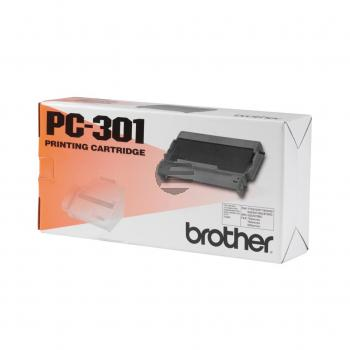 Brother Mehrfachkassette + 1 Thermo-Transfer-Rolle schwarz (PC-301)