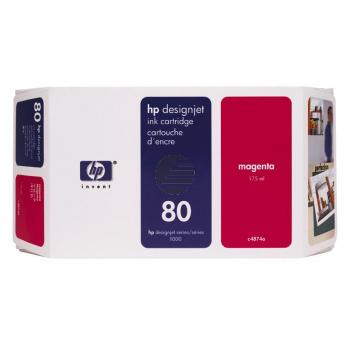 HP Tintenpatrone magenta HC (C4847A, 80)