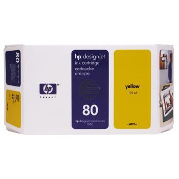HP Cartouche d'encre jaune GC (C4848A, 80)