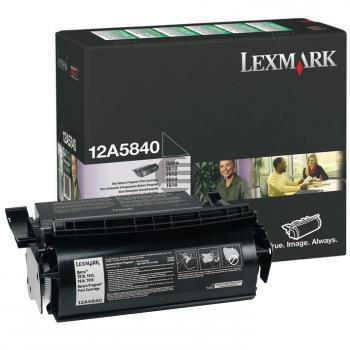 Lexmark Toner-Kartusche Prebate schwarz (12A5840)