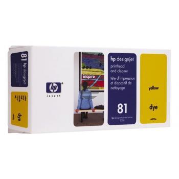 HP Tintendruckkopf gelb (C4953A, 81)