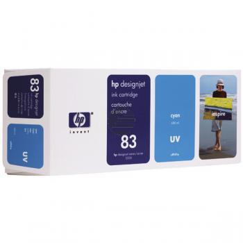 HP Tintenpatrone UV-Tintensystem cyan (C4941A, 83)