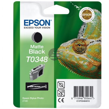 Epson Tintenpatrone schwarz matt (C13T03484010, T0348)