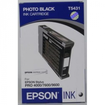 Epson Tintenpatrone photo schwarz (C13T543100, T5431)