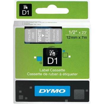 Dymo Schriftbandkassette weiß/transparent (45020)