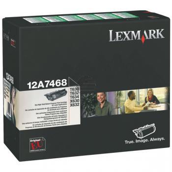 Lexmark Toner-Kartusche Prebate speziell für Etiketten schwarz (12A7468)