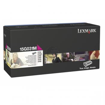 Lexmark Toner-Kartusche magenta (15G031M)
