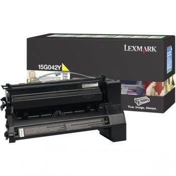 Lexmark Toner-Kartusche Prebate gelb HC (15G042Y)