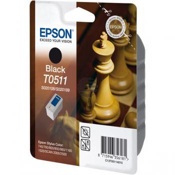 Epson Tintenpatrone schwarz (C13T05114010, T0511)