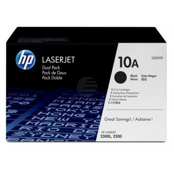 HP Toner-Kartusche 2 x schwarz (Q2610D, 10A)