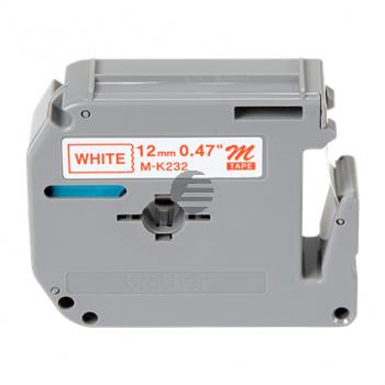 Brother Schriftbandkassette rot/weiß (M-K232)