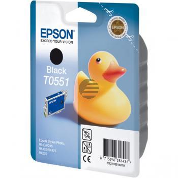 Epson Tintenpatrone schwarz (C13T05514010, T0551)