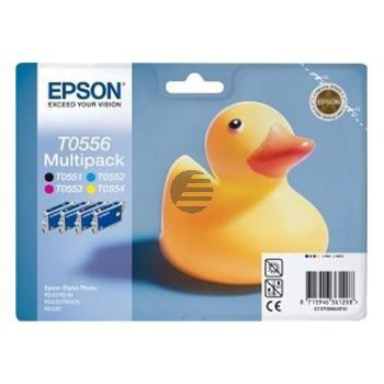 Epson Tintenpatrone gelb, cyan, magenta, schwarz (C13T05564010, T0556)