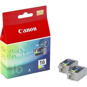 Canon Tintenpatrone 2 x cyan/gelb/magenta (9818A002, 2 x BCI-16C)