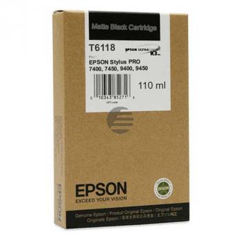 Epson Tintenpatrone schwarz matt (C13T611800, T6118)