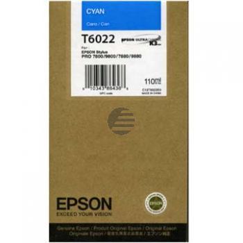 Epson Tintenpatrone cyan (C13T602200, T6022)