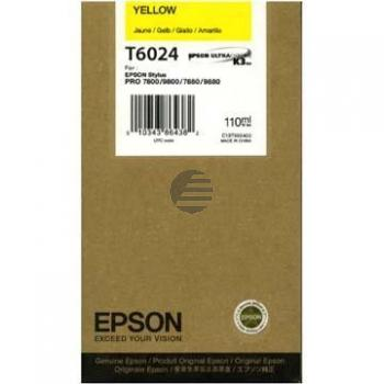 Epson Tintenpatrone gelb (C13T602400, T6024)