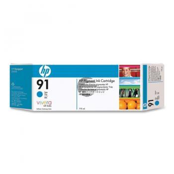 HP Tintenpatrone cyan (C9467A, 91)