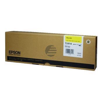 Epson Tintenpatrone gelb (C13T591400, T5914)