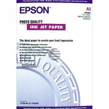 Epson Photo Quality Ink Jet Paper DIN A3 10 Seiten weiß (C13S041068)