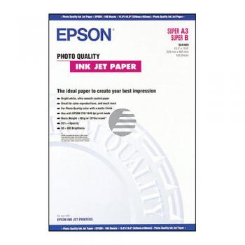 Epson Photo Quality Ink Jet Paper DIN A3 10 Seiten weiß (C13S041069)