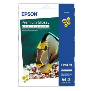 Epson Premium Glossy Photopapier DIN A4 weiß 20 Blatt DIN A4 (C13S041287)