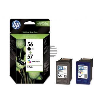 HP Tintendruckkopf cyan/gelb/magenta, schwarz HC (SA342AE, 56, 57)