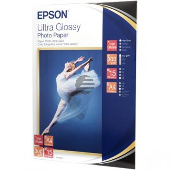Epson Ultra Glossy Photo Papier DIN A4 Inkjetpapier weiß DIN A4 (C13S041927)