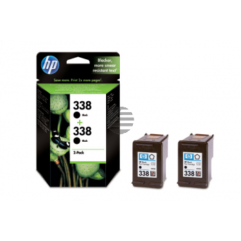HP Tintenpatrone 2 x schwarz (CB331EE, 338)