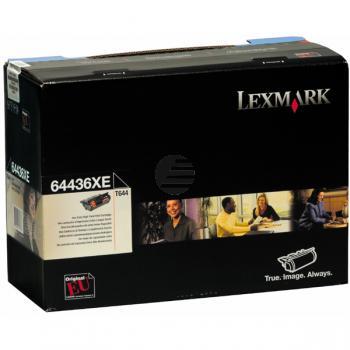 Lexmark Toner-Kartusche schwarz HC plus (64436XE)