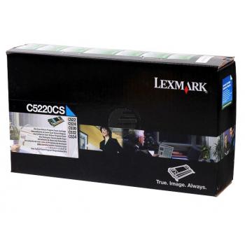 Lexmark Toner-Kartusche Prebate cyan (C5220CS)