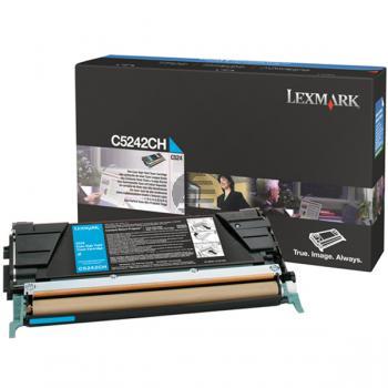 Lexmark Toner-Kartusche cyan HC (C5242CH)