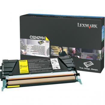 Lexmark Toner-Kartusche gelb HC (C5242YH)