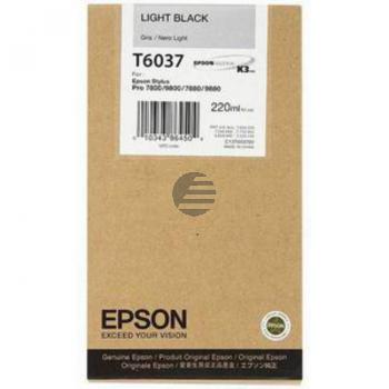 Epson Tintenpatrone schwarz light HC (C13T603700, T6037)