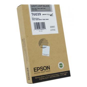 Epson Tintenpatrone schwarz light, light HC (C13T603900, T6039)