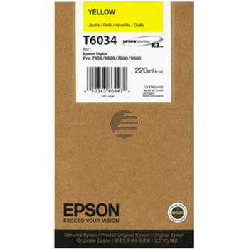 Epson Tintenpatrone gelb HC (C13T603400, T6034)
