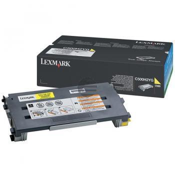 Lexmark Toner-Kartusche gelb HC (C500H2YG)