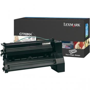 Lexmark Toner-Kartusche schwarz HC (C7702KH)